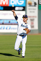 D.J. Peterson #33 of the Everett AquaSox before a game against the Tri-City Dust Devils at Everett Memorial Stadium on July 23, 2013 in Everett, Washington. Everett defeated Tri-City, 3-2. (Larry Goren/Four Seam Images)