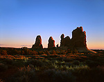 Rock Forms At Sunset, Arches National Park, Utah
