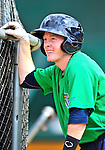 24 July 2010: Vermont Lake Monsters infielder Blake Kelso awaits his turn in the batting cage prior to a game against the Lowell Spinners at Centennial Field in Burlington, Vermont. The Lake Monsters fell to the Spinners 11-5 in NY Penn League action. Mandatory Credit: Ed Wolfstein Photo