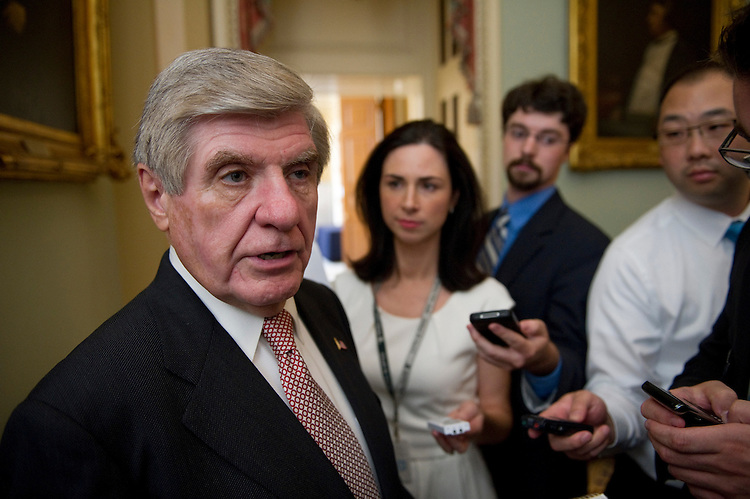 WASHINGTON, DC - July 19: Sen. Ben Nelson, D-Neb., talks to reporters before the Senate Democrat policy luncheon at the U.S. Capitol. (Photo by Scott J. Ferrell/Congressional Quarterly)