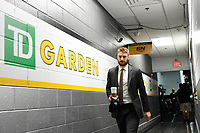 June 6, 2019: Boston Bruins center Sean Kuraly (52) makes his way to the locker room before during game 5 of the NHL Stanley Cup Finals between the St Louis Blues and the Boston Bruins held at TD Garden, in Boston, Mass. Eric Canha/CSM