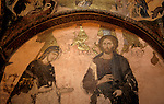 Turkey, Istanbul. The Kariye museum, Byzantine frescoes at the 11th century church of St. Saviour