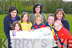.Killarney District Girl Guides who helped tidy the Desmene, Killarney on Wednesday and also presented a cheque of 600 for Nathan's Walk in aid of Pieta House front row l-r: Mellissa Ahern, Abha Dwyer, Olivia Gaffey, Caoimhe Lehane, Aimee Coffey. Back row: Marian Higgins, -----, Susan Graham .