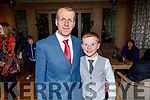 Tom and Gary Boyle attending the Scartaglin LGFA 30th Anniversary social in the Ballygarry House Hotel on Saturday..
