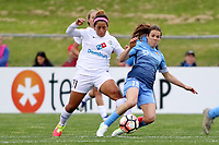 Piscataway, NJ - Sunday April 30, 2017: Desiree Scott, Kelley O'Hara during a regular season National Women's Soccer League (NWSL) match between Sky Blue FC and FC Kansas City at Yurcak Field.