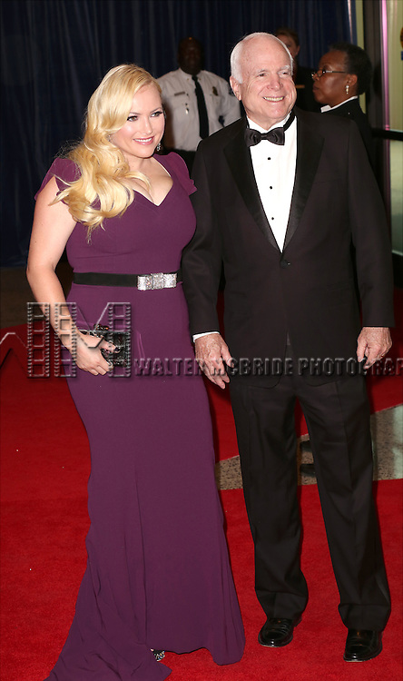 Megan McCain and John McCain attends the 100th Annual White House Correspondents' Association Dinner at the Washington Hilton on May 3, 2014 in Washington, D.C.