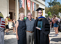 Linda and Tod White '59 stand with Gerald Daigle, recipient of The Linda and Tod White Teaching Prize. Not pictured - The Linda and Tod White Teaching Prize recipient Keith Naylor.<br /> The class of 2023 are welcomed to Occidental College by trustees, faculty and staff in Thorne Hall on Aug. 27, 2019 during Oxy's 132th Convocation ceremony, a tradition that formally marks the start of the academic year and welcomes the new class.<br /> (Photo by Marc Campos, Occidental College Photographer)