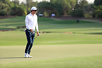 Dylan Frittelli (RSA) on the 18th during the final round of the DP World Tour Championship, Jumeirah Golf Estates, Dubai, United Arab Emirates. 19/11/2017<br /> Picture: Golffile | Fran Caffrey<br /> <br /> <br /> All photo usage must carry mandatory copyright credit (© Golffile | Fran Caffrey)