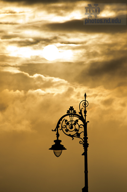 Dublin: Lamp post near Merrion Square..Photo by Matt Cashore/University of Notre Dame
