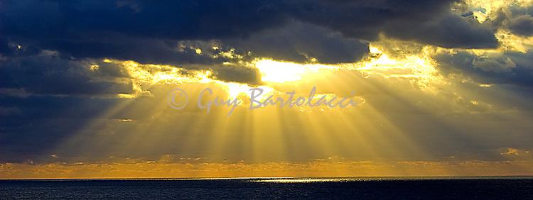 Sunbeams on the Atlantic Panorama