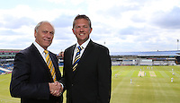 PICTURE BY VAUGHN RIDLEY/SWPIX.COM - Cricket - County Championship - Yorkshire v Derbyshire, Day 2 - Headingley, Leeds, England - 30/04/13 - Yorkshire's Executive Chairman Colin Graves and Yorkshire's New Chief Executive Mark Arthur.