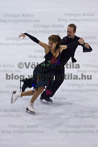 Nora Hoffmann and Maxim Zavozin performs during the figure skating national championships held in Budapest's Practice Ice Center. Budapest, Hungary. Sunday, 09. January 2011. ATTILA VOLGYI