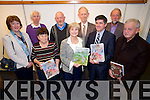 Kerry Archaeological and Historical Society lecture and Book launch of Kathleen Hegarty Thorne.  Author of two books, Echos of their Footsteps , about the Irish Civil War at the Kerry Library on Tuesday. Front l-r Ann Miles, Kathleen Brown (Kerry Archaeological and Historical Society), Kathleen Hegarty Thorne (Newberg, Oregon.  Author of two books, Echos of their Footsteps Part 1 and Part 2), Tim Horgan (Kerry Archaeological and Historical Society), Raymond Roche (Kerry Archaeological and Historical Society).  Back l-r Tom Walsh, Micheal O'Reilly, Derry O'Connor (Galway formerly of Tralee), Dick Carmody (Kerry Archaeological and Historical Society)