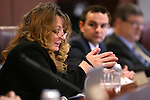 Nevada Assembly Minority Leader Marilyn Kirkpatrick, D-North Las Vegas, works in a committee hearing at the Legislative Building in Carson City, Nev., on Tuesday, Feb. 3, 2015. <br /> Photo by Cathleen Allison