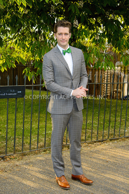 WWW.ACEPIXS.COM<br /> <br /> US Sales Only<br /> <br /> June 26 2013, London<br /> <br /> Matthew Morrison at the Serpentine Gallery Summer Party at Hyde Park on June 26 2013 in London<br /> <br /> By Line: Famous/ACE Pictures<br /> <br /> <br /> ACE Pictures, Inc.<br /> tel: 646 769 0430<br /> Email: info@acepixs.com<br /> www.acepixs.com