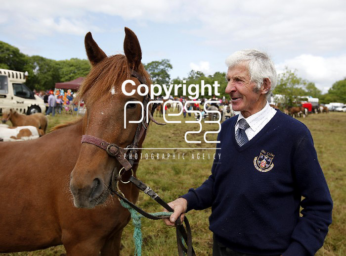 24/6/13 Attending the Spancilhill Horse Fair is Tommy Considine. Pic Tony Grehan / Press 22