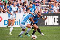 Kansas City, MO - Wednesday August 16, 2017: Ali Krieger, Shea Groom during a regular season National Women's Soccer League (NWSL) match between FC Kansas City and the Orlando Pride at Children's Mercy Victory Field.