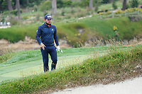 Tyrrell Hatton (ENG) on the 17th during the final round of the US Open Championship, Pebble Beach Golf Links, Monterrey, Calafornia, USA. 16/06/2019.<br /> Picture Fran Caffrey / Golffile.ie<br /> <br /> All photo usage must carry mandatory copyright credit (© Golffile | Fran Caffrey)