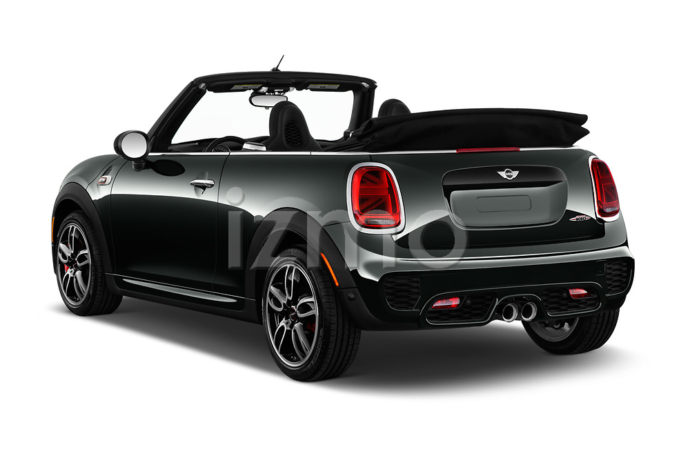 Car pictures of rear three quarter view of 2019 MINI Cooper John-Cooper-Works-Convertible Door Convertible Angular Rear