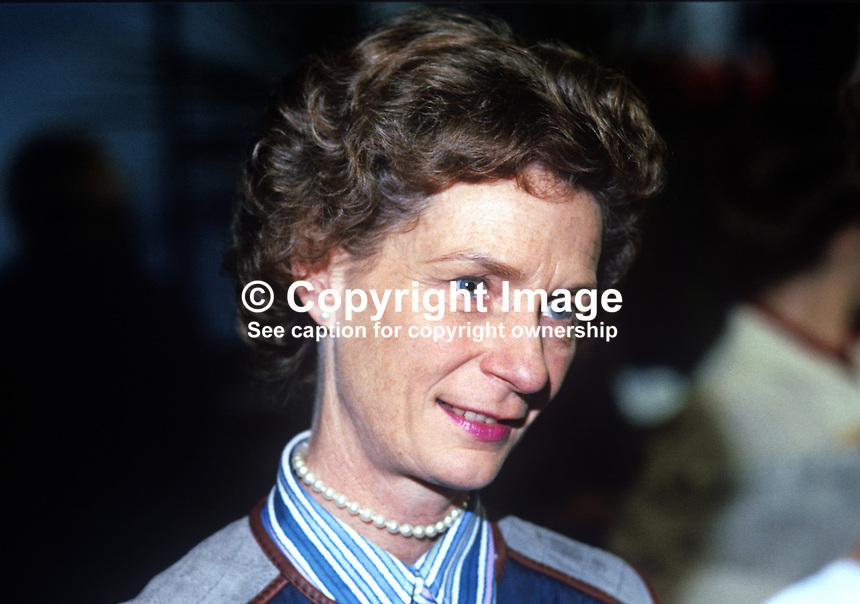 Jane Prior, wife, of  Jim Prior, MP, Secretary of State for N Ireland, at annual conference, Conservative Party, Brighton. 19821000145JP2..Copyright Image from Victor Patterson, 54 Dorchester Park, Belfast, UK, BT9 6RJ.  Tel: +44 28 90661296  Mobile: +44 7802 353836.Email: victorpatterson@me.com Email: victorpatterson@gmail.com..For my Terms and Conditions of Use go to http://www.victorpatterson.com/ and click on Terms & Conditions