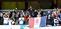 Bolton Wanderers supporters at the end of the match<br /> <br /> Photographer Andrew Kearns/CameraSport<br /> <br /> The EFL Sky Bet Championship - Nottingham Forest v Bolton Wanderers - Sunday 5th May 2019 - The City Ground - Nottingham<br /> <br /> World Copyright © 2019 CameraSport. All rights reserved. 43 Linden Ave. Countesthorpe. Leicester. England. LE8 5PG - Tel: +44 (0) 116 277 4147 - admin@camerasport.com - www.camerasport.com