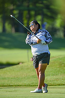 Christina Kim (USA) watches her tee shot on 3 during round 1 of the 2018 KPMG Women's PGA Championship, Kemper Lakes Golf Club, at Kildeer, Illinois, USA. 6/28/2018.<br /> Picture: Golffile | Ken Murray<br /> <br /> All photo usage must carry mandatory copyright credit (&copy; Golffile | Ken Murray)