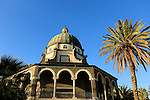 Israel, Sea of Galilee, the Church of the Beatitudes built in 1936