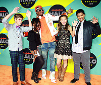 NEW YORK, NY - NOVEMBER 4: Caleb White, Zoe Terry,Nick Cannon, Raegan Junge and Andrew Dunn at the 2017 Nickelodeon Halo Awards at Pier 36 in New York City on November 4, 2017. Credit: RW/MediaPunch /NortePhoto.com