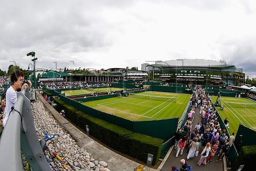 08.07.2015.  Wimbledon, England. The Wimbledon Tennis Championships. Spectators enjoying the atmosphere around the Wimbledon grounds