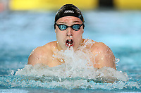 George Schroder, 100m Breaststroke. Swimming New Zealand National Short Course Championships, National Aquatic Centre, New Zealand,Tuesday 2nd October 2018. Photo: Simon Watts/www.bwmedia.co.nz