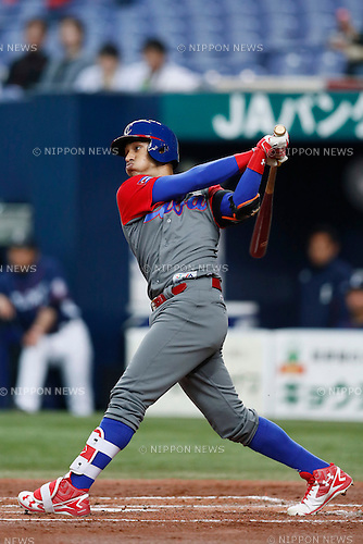 Victor Mesa (CUB), <br /> MARCH 5, 2017 - Baseball : <br /> 2017 World Baseball Classic Exhibithion Game <br /> between Seibu Lions - Cuba <br /> at Kyocera Dome Osaka in Osaka, Japan. <br /> (Photo by Yohei Osada/AFLO SPORT)