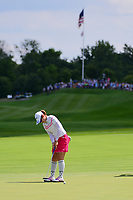 Seon Woo Bae (KOR) watches her putt on 1 during Saturday's third round of the 72nd U.S. Women's Open Championship, at Trump National Golf Club, Bedminster, New Jersey. 7/15/2017.<br /> Picture: Golffile | Ken Murray<br /> <br /> <br /> All photo usage must carry mandatory copyright credit (&copy; Golffile | Ken Murray)