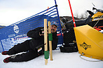 FRANCONIA, NH - MARCH 10:   A timing official lines up finish lien beams prior Slalom event at the Division I Men's and Women's Skiing Championships held at Cannon Mountain on March 10, 2017 in Franconia, New Hampshire. (Photo by Gil Talbot/NCAA Photos via Getty Images)