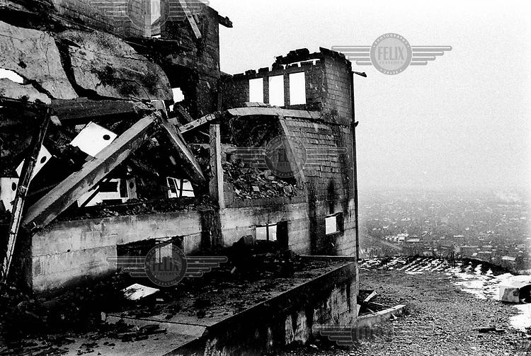 Destroyed Albanian house near Malisevo.