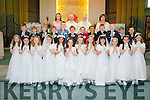 My First<br /> ----------<br /> Listellick NS,Tralee who received their First Holy Communion last Saturday in St Brendans Church,Tralee were Jack Barrett,Jack Given,Oisin O'Sullivan,James Fisher,Thomas O'Connell,Eddie De Quadros,Padraig O'Connell,Cian Hennessy,Michael Moriarty,Fintan Grines,William Higgins,Cillian Ginty,Magdalena Knysak,Oliwia czerview,Amy Behan,Claudia Crowley,Kelly Gainer,Rachael Foley,Katie Fitzmaurice,Emma Duncan,Grainne Diggin,Shauna Harris,Maive Trant,Dora Daly.(back) L-R Ashley Reynolds(teacher)Fr Patsy Lynch,Fr Niculos Motherway and Annette Dineen,school principal.