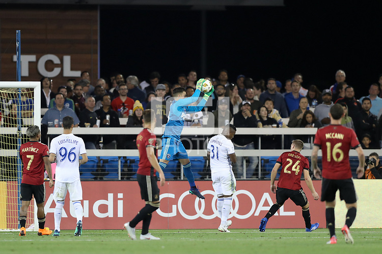 San Jose, CA - Wednesday September 19, 2018: JT Marcinkowski during a Major League Soccer (MLS) match between the San Jose Earthquakes and Atlanta United FC at Avaya Stadium.