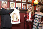 Max Klimavicius, Laura Linney and Cynthia Nixon attend the portrait unveilings of Laura Linney and Cynthia Nixon starring on Broadway in the Manhattan Theatre Club's THE LITTLE FOXES, at Sardi's on June 29, 2017 in New York City.