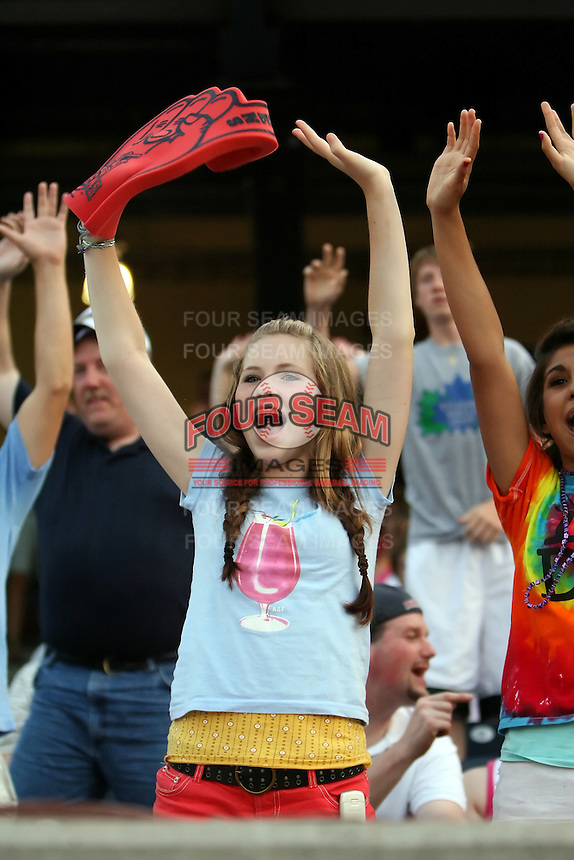 June 12th 2008:  Toledo Mudhens fans during a game at Fifth Third Field in Toledo, OH.  Photo by:  Mike Janes/Four Seam Images