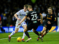 Leeds United's Jack Clarke runs at Hull City's Stephen Kingsley<br /> <br /> Photographer Alex Dodd/CameraSport<br /> <br /> The EFL Sky Bet Championship - Leeds United v Hull City - Saturday 29th December 2018 - Elland Road - Leeds<br /> <br /> World Copyright © 2018 CameraSport. All rights reserved. 43 Linden Ave. Countesthorpe. Leicester. England. LE8 5PG - Tel: +44 (0) 116 277 4147 - admin@camerasport.com - www.camerasport.com