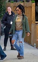 www.acepixs.com<br /> <br /> May 4 2017, New York City<br /> <br /> Singer and actress Rihanna was on the Brooklyn set of the new movie 'Oceans Eight' on May 4 2017 in New York City<br /> <br /> By Line: Curtis Means/ACE Pictures<br /> <br /> <br /> ACE Pictures Inc<br /> Tel: 6467670430<br /> Email: info@acepixs.com<br /> www.acepixs.com