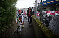 3rd finisher Joaquim Rodriguez (ESP/Katusha) coming back from his press conference<br /> <br /> 101th Liège-Bastogne-Liège 2015