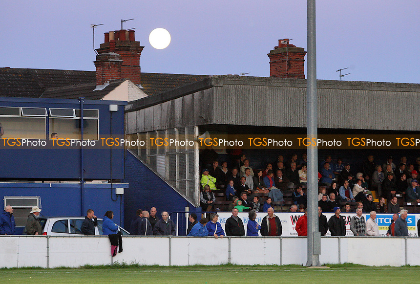 The moon rises over the main stand at Crown Meadow - Lowestoft Town vs AFC Hornchurch - Ryman League Premier Division Football at Crown Meadow - 24/08/10 - MANDATORY CREDIT: Gavin Ellis/TGSPHOTO - SELF-BILLING APPLIES WHERE APPROPRIATE. NO UNPAID USE. TEL: 0845 094 6026