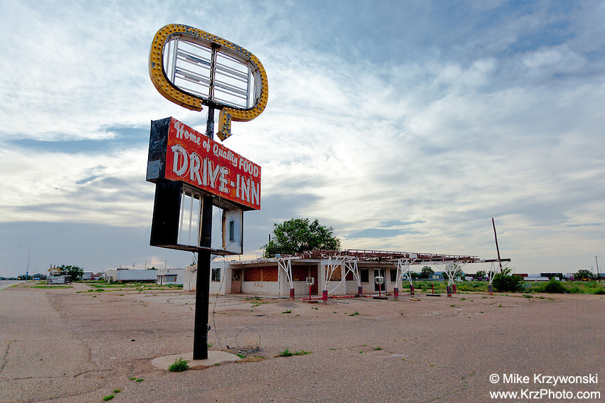 "Abandoned ""Drive-Inn"" Restaurant in Tucumcari, NM"