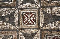 Zypern (Nord), Agias Trias bei Sipahi, Basilika erbaut 550, Mosaik
