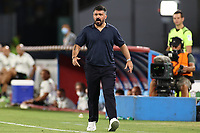 Gennaro Gattuso coach of SSC Napoli <br /> during the Serie A football match between SSC  Napoli and US Sassuolo at stadio San Paolo in Naples ( Italy ), July 25th, 2020. Play resumes behind closed doors following the outbreak of the coronavirus disease. <br /> Photo Cesare Purini / Insidefoto