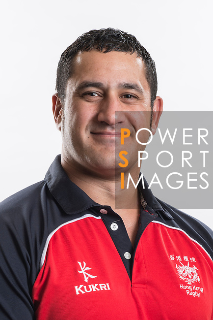 Hong Kong Junior Squad management team member Pale Tauti poses during the Official Photo Session Day at King's Park Sports Ground ahead the Junior World Rugby Tournament on 25 March 2014. Photo by Andy Jones / Power Sport Images
