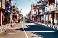 Bali, Karangasem, Amlapura. The Amlapura town center on a very quiet day.