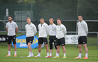 24th May 2014, Republic of Ireland players, Marc Wilson, Alex Pearse, Jonathan Walters, Paul Green,  Simon Cox and Shane Duffy. Republic of Ireland Squad Training, Gannon Park, Malahide, Co Dublin. Picture credit: Tommy Grealy/actionshots.ie.