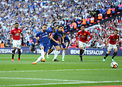 19th May 2018, Wembley Stadium, London, England; FA Cup Final football, Chelsea versus Manchester United; Eden Hazard of Chelsea scores his sides 1st goal in the 21st minute from a penalty to make it 1-0
