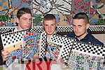 TILE CHOICE: Students from Abbeyfeale Vocational School who took part in a Multiple Intelligence Learning Project at the school..L/r. Joe O'Flaherty (Abbeyfeale), Jonathon Stack (Abbeyfeale) and William O'Connor (Abbeyfeale).   Copyright Kerry's Eye 2008